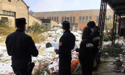Trecento metri cubi di rifiuti speciali abbandonati a Rovato