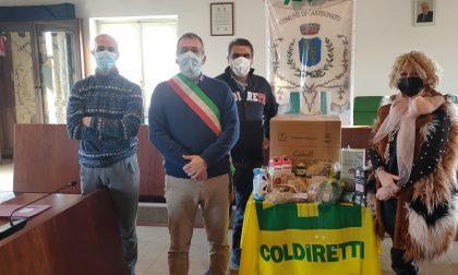 Anche a Castegnato consegnati i pacchi donati dagli agricoltori Coldiretti
