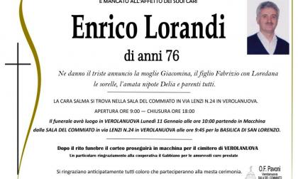 Verolanuova piange Enrico Lorandi