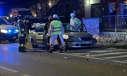 Scontro fra due auto a Clusane, tre persone ferite