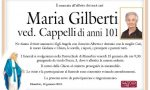 Comunità in lutto: Maria Gilberti si è spenta all'età di 101 anni