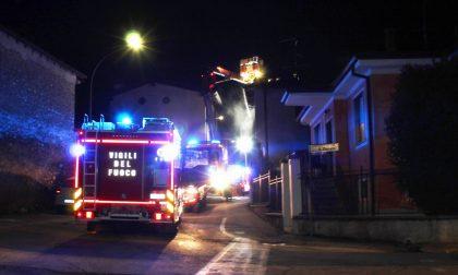 Incendio in via Sopramura a Rovato