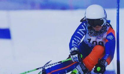 Giorgia Oprandi, a 13 anni, conquista le piste innevate