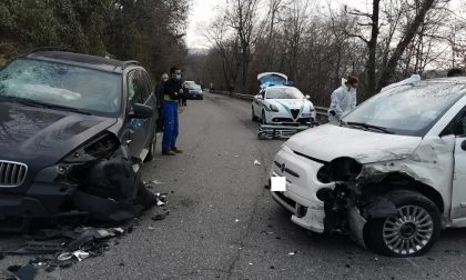 Incidente frontale in curva tra Iseo e Polaveno: strada chiusa