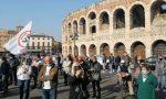 Manifestazione No Vax a Verona contro la «dittatura sanitaria» nel giorno dei 1000 contagi a Brescia
