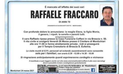 Cordoglio per la morte dell'ex comandante dei vigili Raffaele Fraccaro