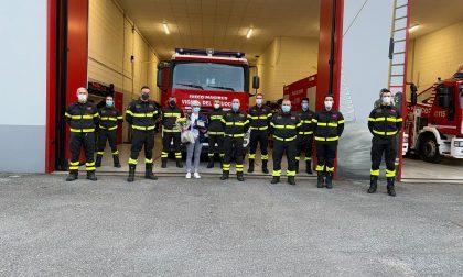 I pompieri hanno salutato la loro centralinista