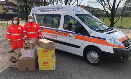 Merendine in dono agli operatori sanitari impegnati all'Hub