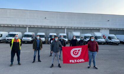 Sciopero di trasporto merci e logistica, presidio a Brescia per il contratto nazionale