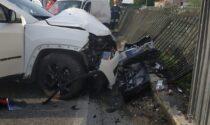 Schianto tra due veicoli all'incrocio di via Sant'Eusebio a Cologne