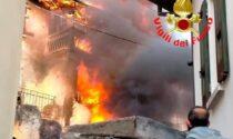 Incendio devastante a Lumezzane: quattro famiglie senza casa