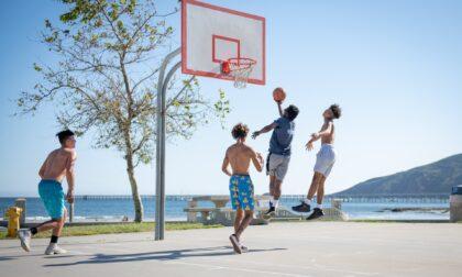 Giocavano a basket nel parco: multati 20 giovani