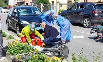 Uomo investito da un'auto in via Moretto