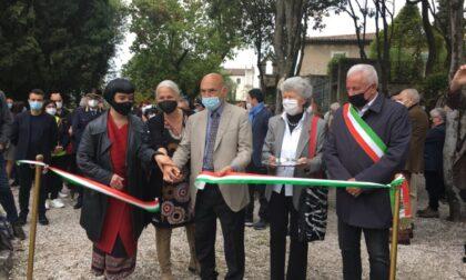 Vittoriale degli Italiani, taglio del nastro per l'inaugurazione del Roseto