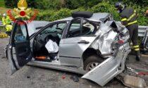 Incidente vicino all'ospedale di Esine, due feriti