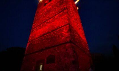 La Rocca di Solferino si illumina di rosso in onore di Dunant