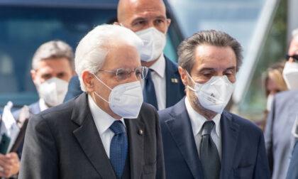 Il presidente Fontana ringrazia Mattarella per la visita a Brescia