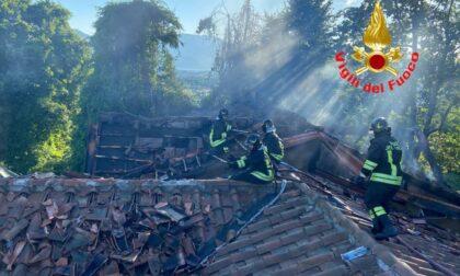 Incendio nel noto resort l'Albereta