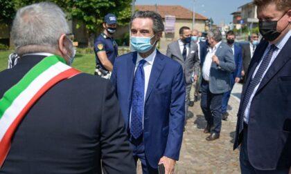 Il governatore Attilio Fontana in visita a Erbusco
