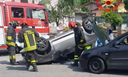 Frontale a Pisogne: due feriti sulla provinciale