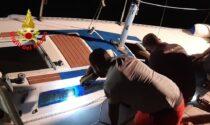 Barca in pericolo a Tignale, intervengono i Vigili del Fuoco