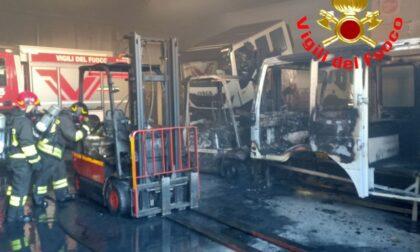 Paura a Zerbino: un capannone in fiamme