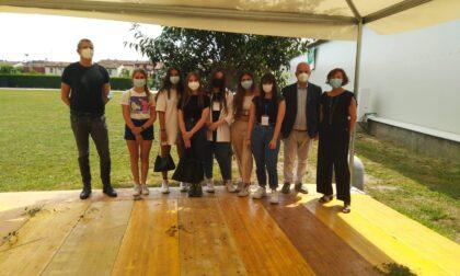 Gli studenti del Capirola all'hub di Castelletto di Leno