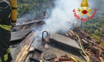 Grave incendio a Gavardo, sei squadre di pompieri per domarlo