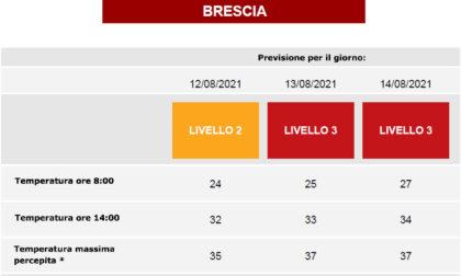 Ondate di calore: da domani Brescia da bollino rosso