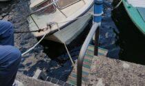 Barca semi affondata a Monte Isola, intervengono i Vigili del Fuoco