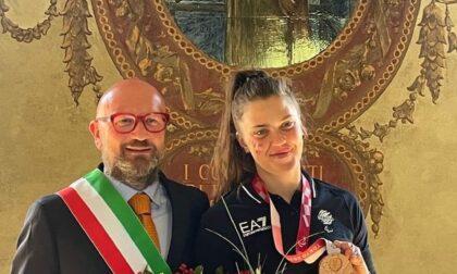 Accolta a Palazzolo la campionessa olimpica Veronica Yoko Plebani