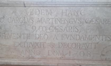 Al Comune un regalo dal 1700: la lapide dei Martinengo