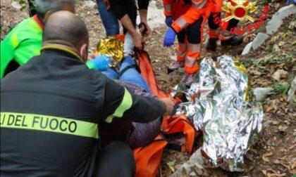 Infortunio lungo il cammino di Tignale, donna recuperata dai Vigili del Fuoco